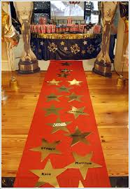 an oscars themed party would not be complete without a red carpet