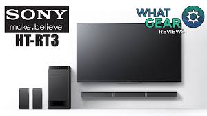 sony wireless home theater speakers sony ht rt3 soundbar with rear speakers youtube