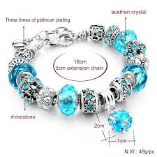 crystal charm bracelet beads images Crystal beads bracelet w silver plated charm shop local communities jpg