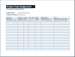 Management Sheets Template Project Task Assignment Management Sheet Word Excel Templates