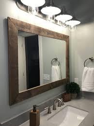 Bathroom Mirror Design Bathrooms Design Reclaimed Wood Sink Vanity Bathroom Tv Mirror