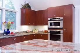 modern kitchen with cherry wood cabinets boston metrowest modern contemporary cherry kitchen