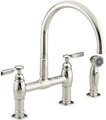 4 kitchen sink faucet polished nickel port bridge kitchen faucet gt31 tdd 1