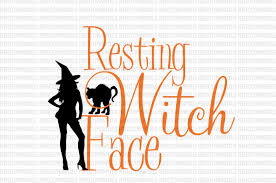 margarita glass svg resting witch face halloween svg halloween sign files svg