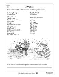 poetry worksheets 4th grade free worksheets library download and