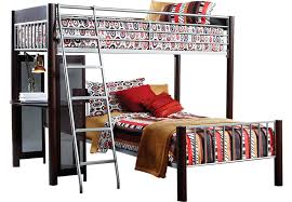 Dorm Room Merlot Twin Twin Loft Bed BunkLoft Beds Dark Wood - Rooms to go bunk bed