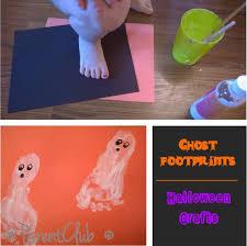 Unique Halloween Crafts - ghost footprints halloween crafts