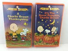 brown thanksgiving vhs its the great pumpkin and be my