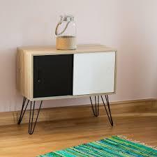Wohnzimmerschrank 60 Jahre Relaxdays Sideboard Retro 60er Jahre Design Holz Metall
