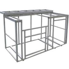 outdoor kitchen island kits cal flame 6 ft outdoor kitchen island frame kit kd f6002 the home