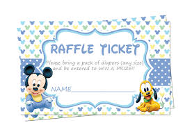 baby shower raffle baby mickey mouse baby shower raffle tickets raffle