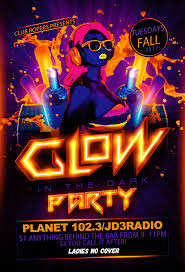 glow party ropers glow party tuesday planet 102 3