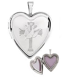 cross locket necklace images Sterling silver religious heart locket with engraved cross dove 5169 gif