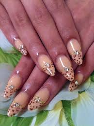 cute nail designs beige leopard acrylic nails by ayano