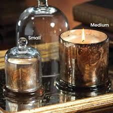 zodax mercury glass candle jar with glass dome medium