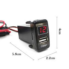 porta usb per auto 2in1 auto car digital voltmeter usb car charger dashboard voltage