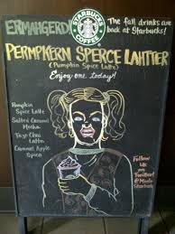 Pumpkin Spice Latte Meme - starbucks barista chalks celebrity tributes to the pumpkin spice