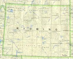 United States Map With State Names by Wyoming Outline Maps And Map Links
