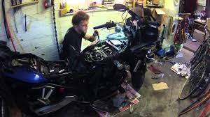 yamaha fzs600 engine assembly and test drive after valve lapping