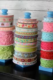 empty ribbon spools how to organize ribbon