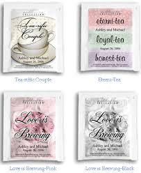 personalized tea bags personalized tea bag favors personalized coffee and tea favors