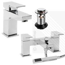 arian tulsi square bathroom basin mixer and bath shower mixer tap pack