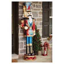outdoor nutcracker 27 led red blue 72