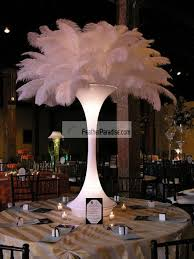 feather plume palm tree white ostrich feather plumes centerpieces
