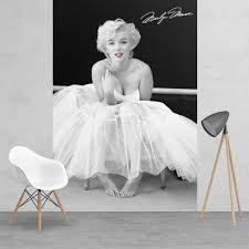 black and white marilyn monroe feature wall wallpaper mural iconic black and white marilyn monroe feature wall wallpaper mural 158cm x 232cm