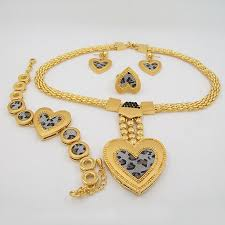 Personalized Pendant Necklace Wholesale African Jewelry Sets 18k Gold Plated High Quality