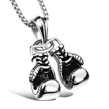mens necklace pendant images Men 39 s necklace and stainless steel pendant pair of boxing gloves jpg