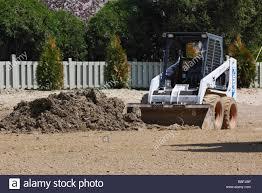 landscaping on garden small bulldozer not people nobody horizontal