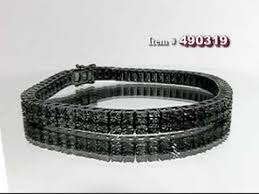 black bracelet diamond images Mens black diamond bracelet 0 50ct black pvd sterling silver jpg