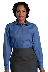 womens no iron blouses edwards garment 5978 s no iron stay collar dress shirt