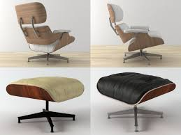 3d model eames lounge chair and ottoman cgtrader