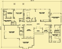 Main Level Floor Plans Ranch Home Plans Contemporary But With Craftsman Details