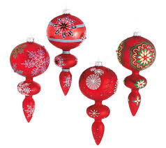 Red Mercury Glass Christmas Ornaments Midwest Tree Ornamentation Glass Kmart