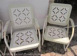 attractive vintage metal patio furniture outdoor decorating plan