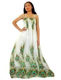 mayridress women peacock maxi dress plus size clothing beach white