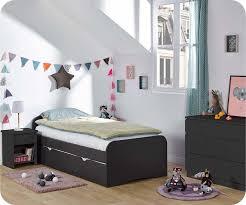 meubles chambre enfants enfant twist gris anthracite set de 3 meubles