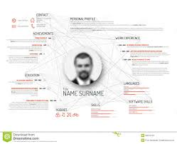 Cv Resume Example by Original Cv Resume Template Stock Vector Image 61311041