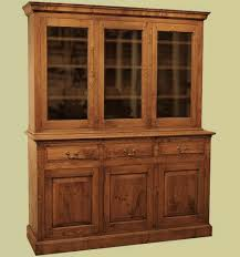 3 Door Display Cabinet Oak Reproduction Cupboard Display And Storage Cupboards
