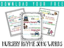 Words That Rhyme With Table 10 Classic Nursery Rhymes To Sing With Babies And Toddlers