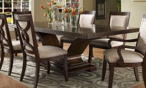 Black Wood Dining Table Cool Brown Rectangle Industrial Wood Dining Table With 6