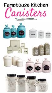 farmhouse kitchen canister sets and farmhouse decor ideas white