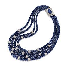 sapphire bead necklace images Sapphire and diamond bead necklace david webb the four strand jpg