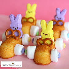 easter bunny easter peeps desserts bunny twinkie race cars
