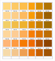 pantone color chart sample 8 documents in word pdf