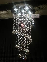 harrison lane 5 light crystal chandelier 5 lights w15 7 x h40 new clear crystal chandelier spiral pendant