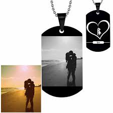 custom engraved necklaces diy customized letter photo personalized army dog tags